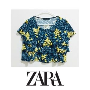 New Zara Floral crop too